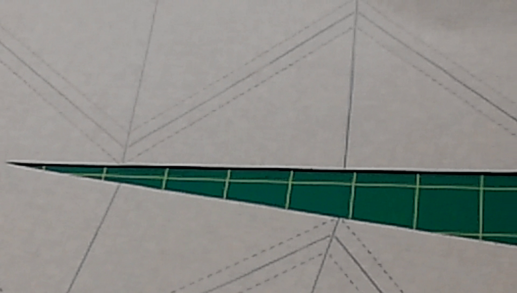 Cut on the solid horizontal lines.