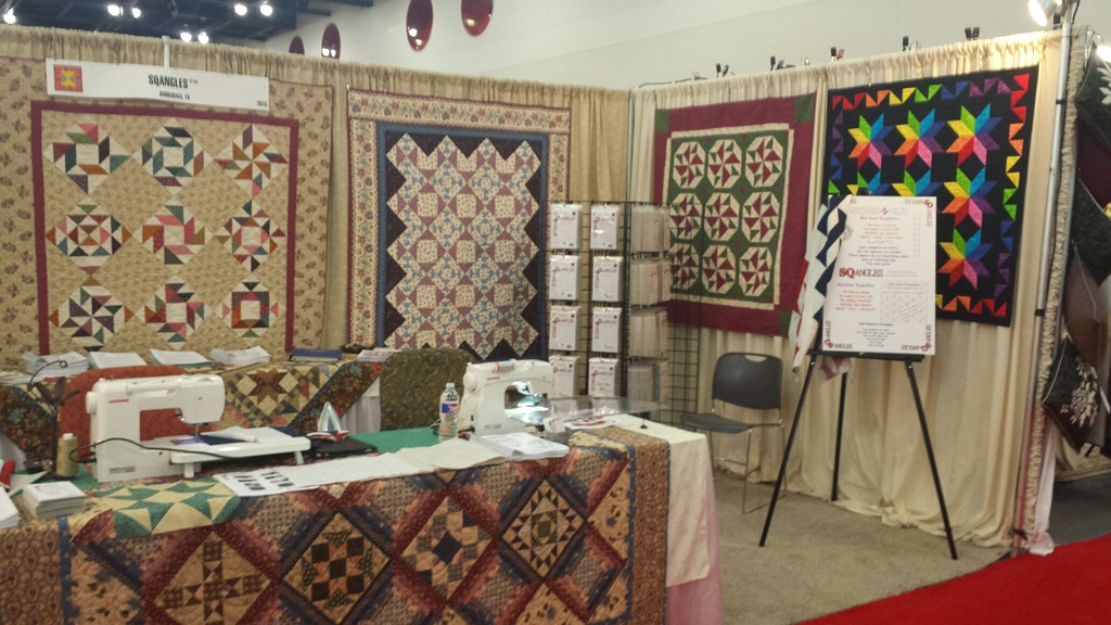 Our Booth at Houston International Quilt Market » SQangles : houston international quilt market - Adamdwight.com